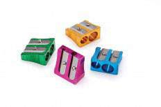 Coloured Metal Double Hole Sharpener