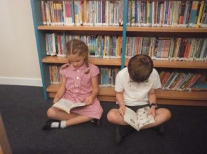 Students reading at Gillingham St Michael's