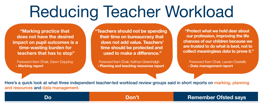 Reducing Teacher Workload Government Poster