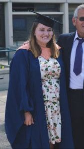Holly Pritchard at her University of East Anglia Graduation