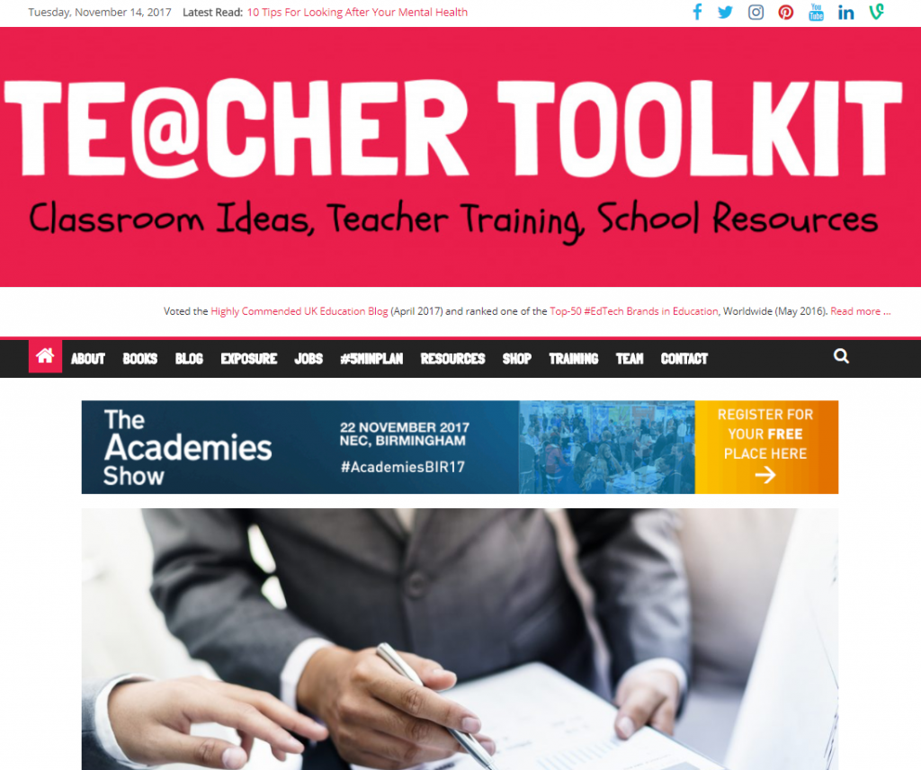 Teacher Toolkit Educational News