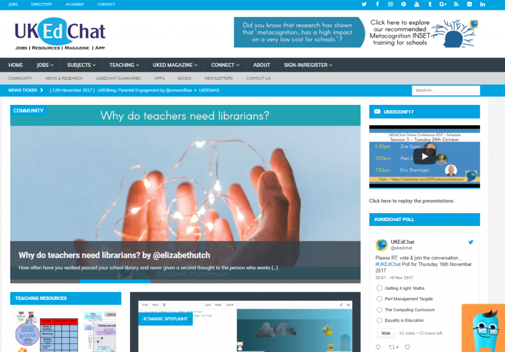 UKEdChat Educational News