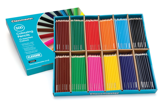 Classmaster Colouring Pencils in a pack of 500 with display box